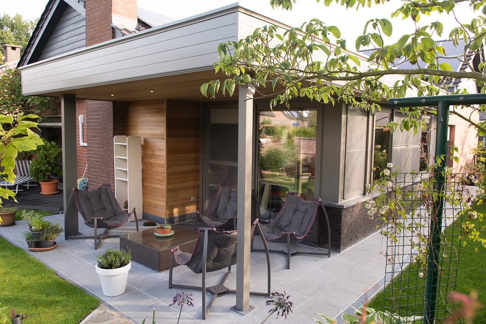 Aluminium veranda en pergola opdorp sds verandabouw - Aluminium pergola met schuifdeksel ...